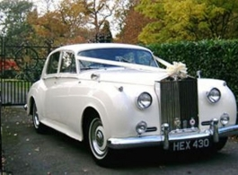 White Rolls Royce wedding car hire in Bournemouth